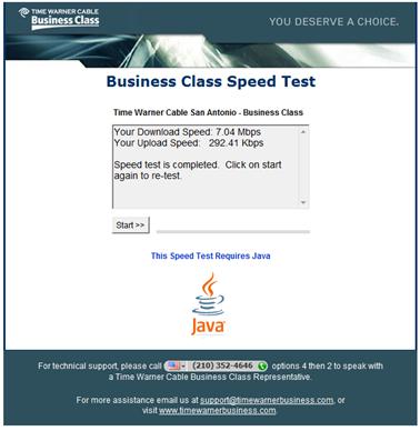 speed test - san antonio