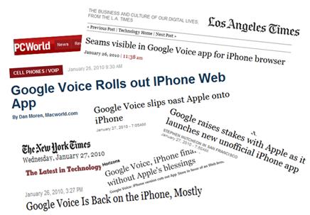 Google Voice -iPhone