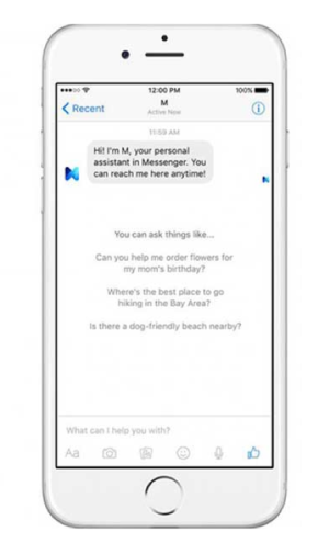 Facebook M on iPhone