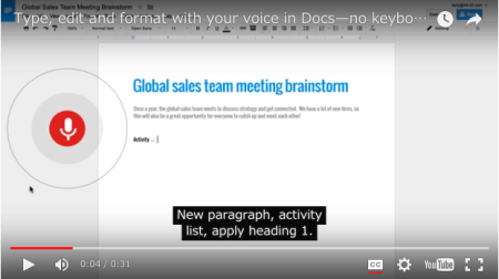 Google Docs with Voice Youtube